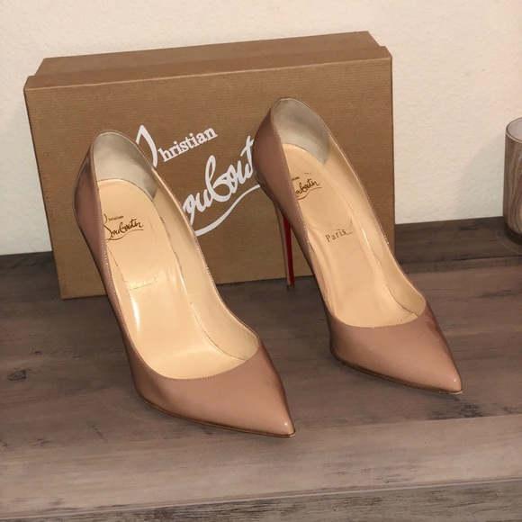 Christian Louboutin Shoes - PIGALLE FOLLIES 100 PATENT NUDE b09612cdc360
